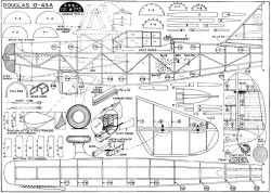 Douglas O-43A model airplane plan
