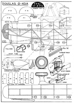 Douglas O-43A p1 model airplane plan