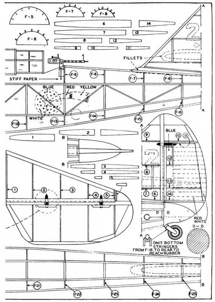 Douglas O-43A p2 model airplane plan
