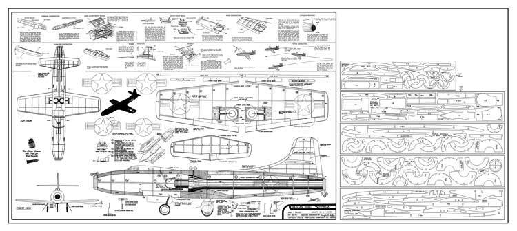 Douglas Skystreak - jet by Comet model airplane plan