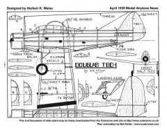 Douglas TBD-1 2 model airplane plan