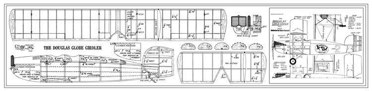Douglas World Cruiser 23in model airplane plan