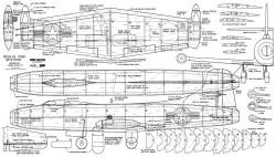 Douglass D558 Skystreak model airplane plan