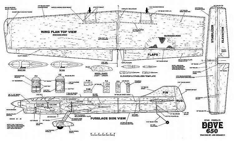 Dove 650 model airplane plan