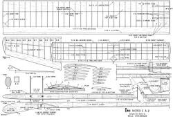 Dove Nordic A-2 model airplane plan