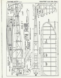 Draftee model airplane plan
