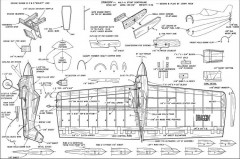 Draggin CL 22in model airplane plan