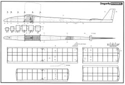 Dragonfly 1100mm model airplane plan