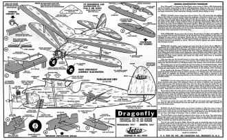 Dragonfly Jetco model airplane plan