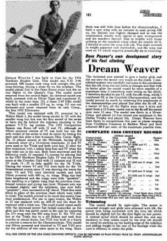 DreamWeaver model airplane plan