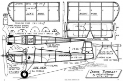 Druine Turbulent Mooney model airplane plan