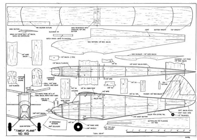 Dub-l-dek-r model airplane plan
