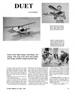 Duet model airplane plan