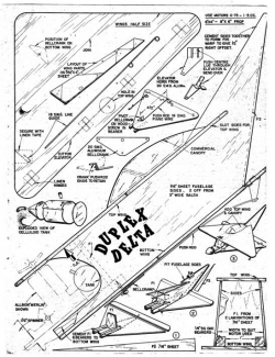 Duplex Delta model airplane plan