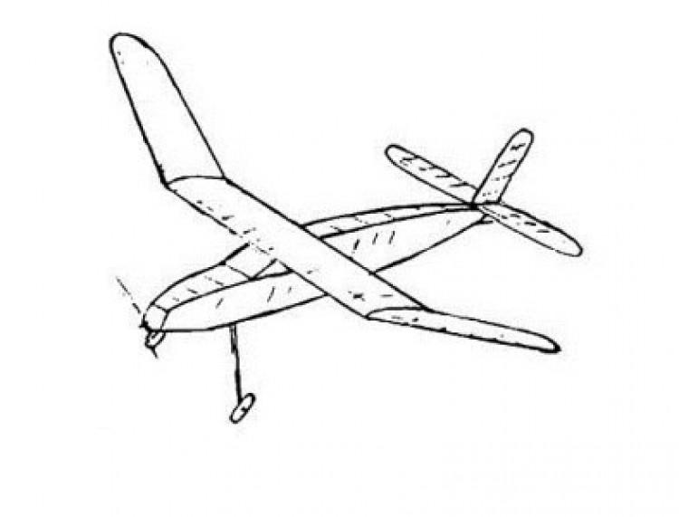 Duplex model airplane plan