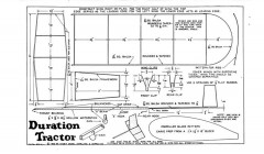 Duration Tractor model airplane plan