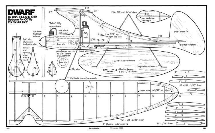 Dwarf 2 model airplane plan