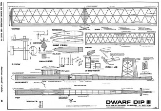 Dwarf Dip III-AAM Annual 1969 model airplane plan