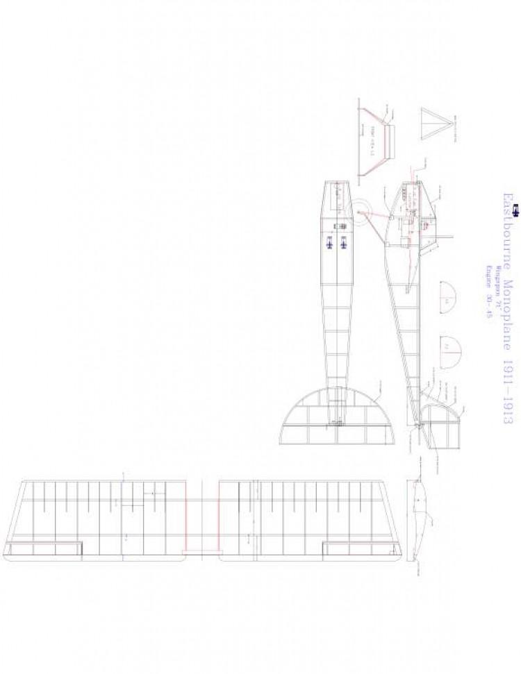 EASTBOURNE MONOPLANE Model 1 model airplane plan