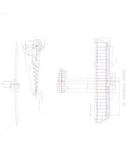 EINDECKER III Model 1 model airplane plan
