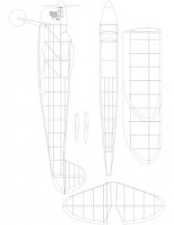 ELFX2 Model 1 model airplane plan