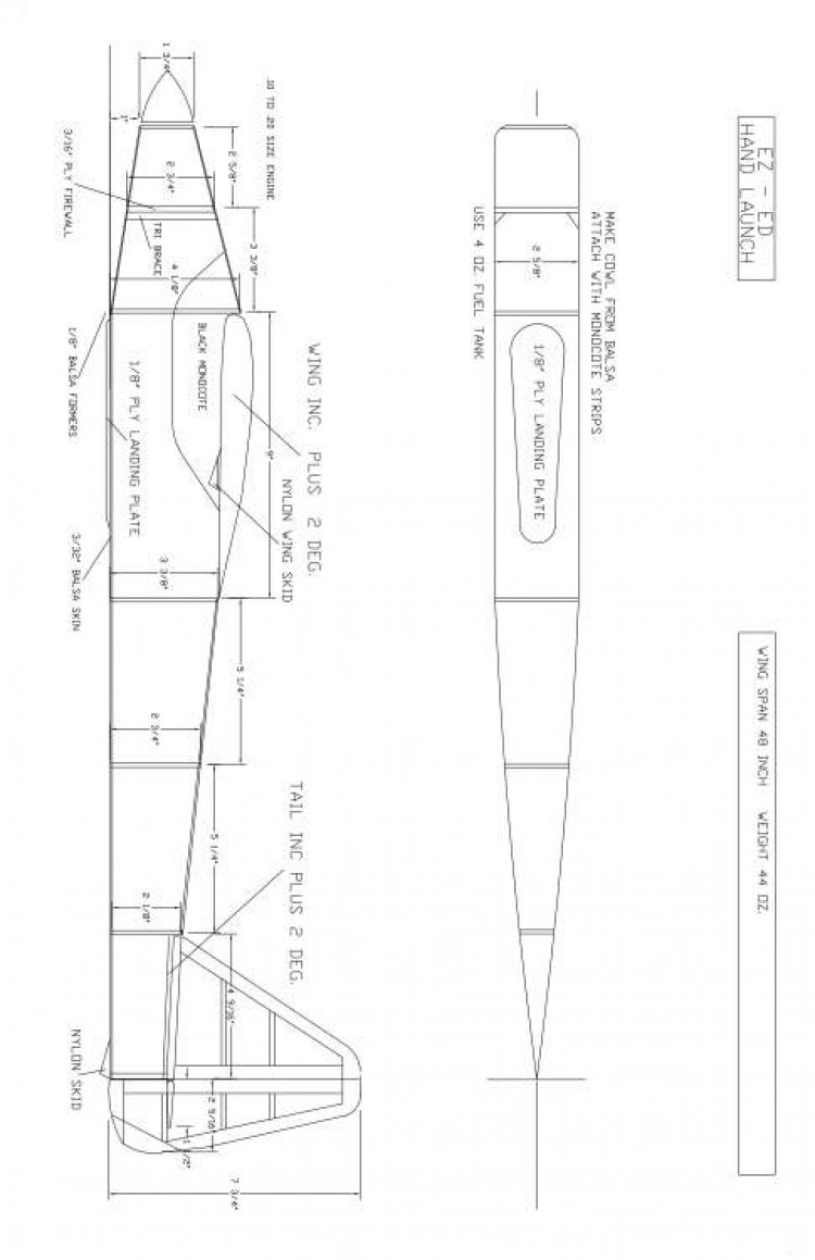 EZ-ED Model 1 model airplane plan