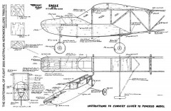 Eagle II Power Conversion model airplane plan