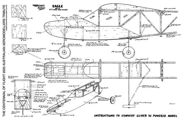 Eagle II Power Conversion model airplane plan