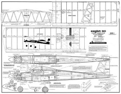 Eaglet 50 model airplane plan