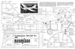 Eastbourne-1913-Monoplane model airplane plan