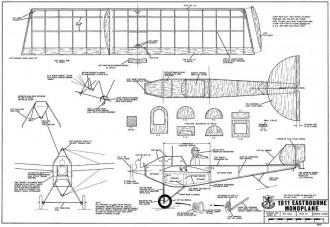 Eastbourne Monoplane 1911-RCM-01-69 model airplane plan