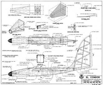 El Condor model airplane plan