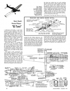 El Toro model airplane plan