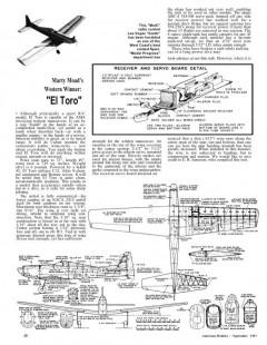 El Toro model airplane plan