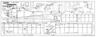 Elec Cardinal model airplane plan