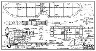 Electric Yogi RCM-1018 model airplane plan