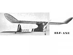 Elf Axe model airplane plan