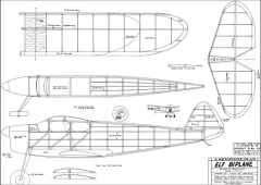 Elf Biplane 39in model airplane plan
