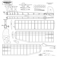 Eliminator 1952 .09 model airplane plan