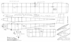 Elite no1 glider 30in span model airplane plan