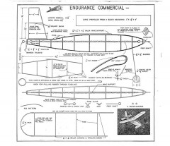 Endurance Commercial model airplane plan