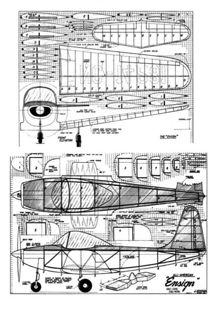 Ensign model airplane plan
