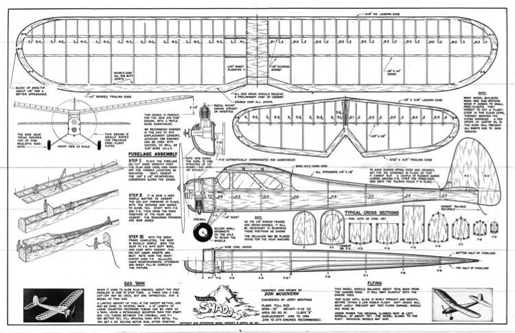 Enterprise Shadow model airplane plan