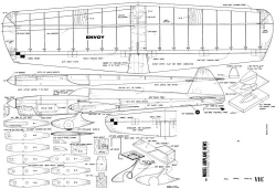 Envoy CL Stunt model airplane plan