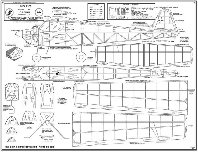 Envoy model airplane plan