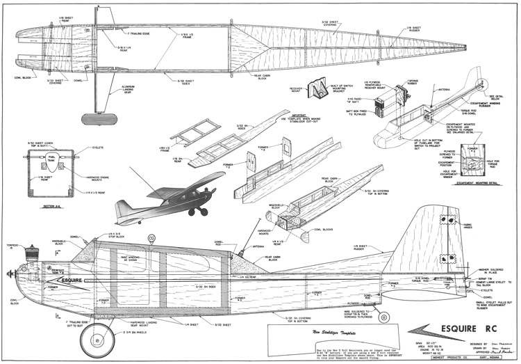 Esquire model airplane plan