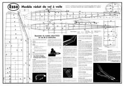 Esso Glider model airplane plan