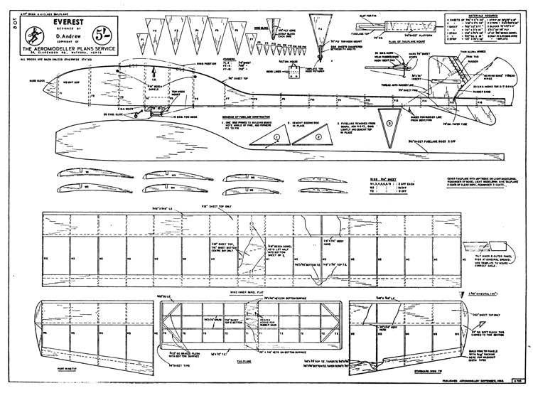 Everest model airplane plan