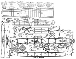 Everitts Wakefield model airplane plan