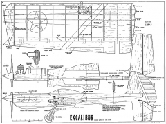 Excalibur CL model airplane plan